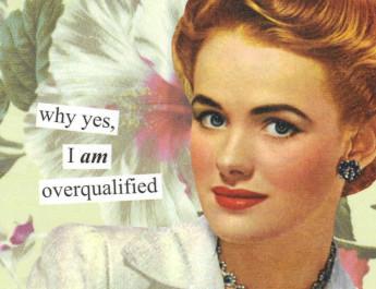 overqualified -специалист
